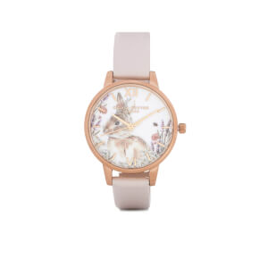Olivia Burton Women's Woodland Bunny Nude and Gold Watch - Gold