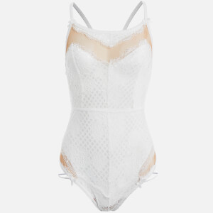 For Love & Lemons Women's Daffodil Lace Body Suit - White