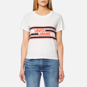 Levi's Women's Orange Tab Graphic Surf T-Shirt - Marshmallow