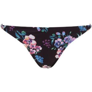 MINKPINK Women's Hidden Wonder Hipster Bikini Bottoms - Black Floral
