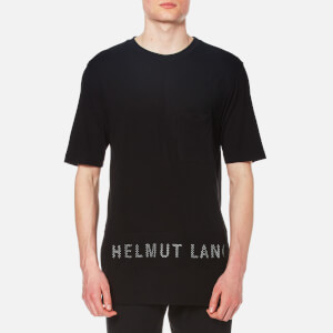 Helmut Lang Men's Mesh Combo T-Shirt - Black