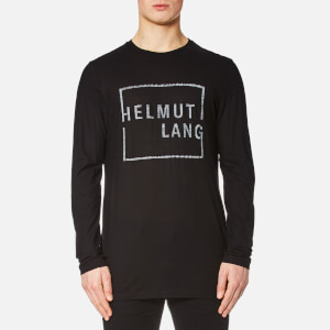 Helmut Lang Men's Long Sleeve Square Logo T-Shirt - Black
