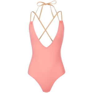 Solid & Striped Women's The Alexandra Swimsuit - Coral/Nude