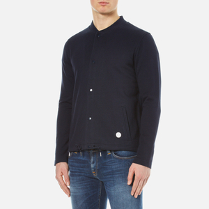 Folk Men's Bomber Collar Jacket - Navy