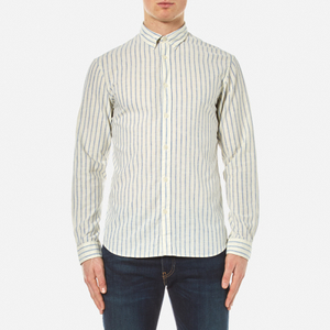 Selected Homme Men's Two Spun Long Sleeve Shirt - Forever Blue