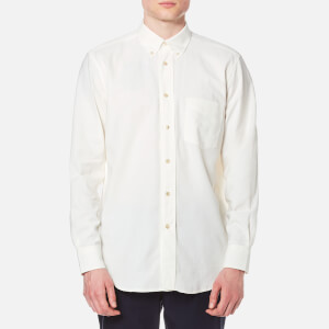 Our Legacy Men's Original Button Down Basket Weave Shirt - White