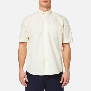 Our Legacy Men's Initial Short Sleeve Shirt - Cream Poplin