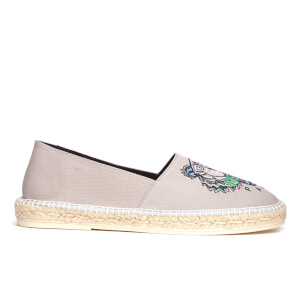 KENZO Men's Slit Tiger Canvas Espadrilles - Grey