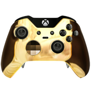 Custom Controllers Xbox One Elite Controller - Chrome Gold Edition