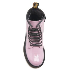 Dr. Martens Kids' Delaney Patent Lamper Lace Boots - Baby Pink: Image 3