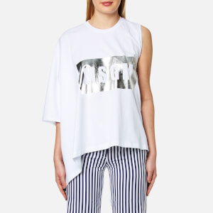 MSGM Women's Oversized Logo T-Shirt - White