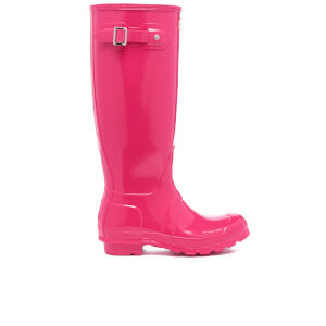 Hunter Women's Original Tall Gloss Wellies - Bright Pink
