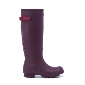 Hunter Women's Original Back Adjustable Wellies - Black Grape/Bright Violet