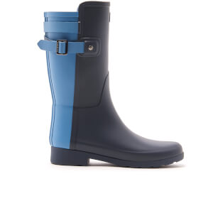 Hunter Women's Original Refined Back Strap Short Wellies - Navy/Pale Air Force