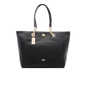 Coach Women's Turnlock Chain Tote Bag - Black