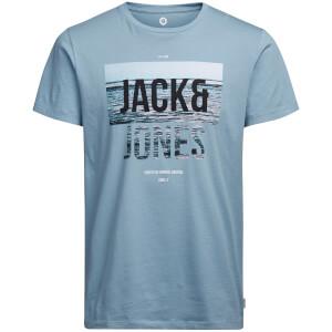 Jack & Jones Men's Core Poster T-Shirt - Blue