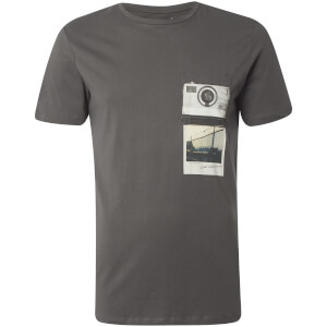 Jack & Jones Men's Originals Check T-Shirt - Asphalt