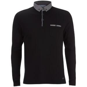 Polo à Manches Longues - Homme Hera Threadbare - Noir