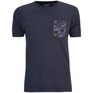T-Shirt Homme Pulp Camouflage Brave Soul -Bleu Marine