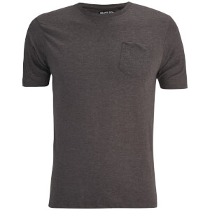 Brave Soul Men's Arkham Pocket T-Shirt - Dark Charcoal Marl