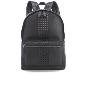 Michael Kors Men's Bryant Pebble Leather Studded Backpack - Black