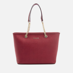 MICHAEL MICHAEL KORS Women's Jet Set Travel Chain Top Zip Tote Bag - Cherry