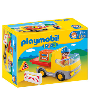 Playmobil 1.2.3 Construction Truck (6960)