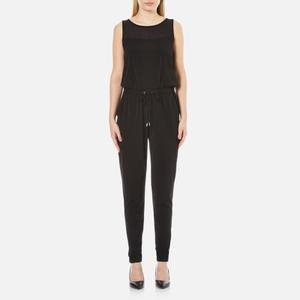 MICHAEL MICHAEL KORS Women's Drawstring Tapered Jumpsuit - Black