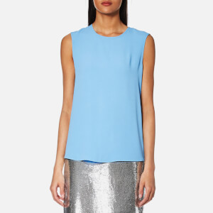Diane von Furstenberg Women's Sleeveless Shell Top - True Blue/Dusty Rose
