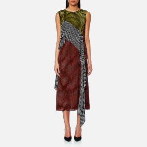 Diane von Furstenberg Women's Sleeveless Ruffle Dress - Ferma