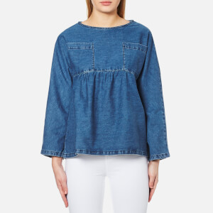 Waven Women's Annelie T Top - Mid Blue