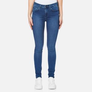 Waven Women's Asa Mid Rise Skinny Jeans - Brand Blue