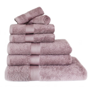 Restmor 100% Egyptian Cotton 7 Piece Luxury Towel Bale (600GSM) - Mauve