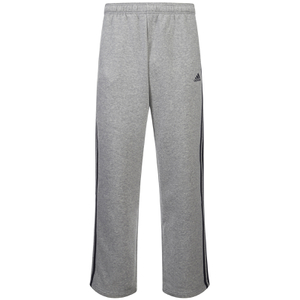 adidas Men's Essential 3 Stripe Fleece Sweatpants - Grey Marl