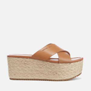 MICHAEL MICHAEL KORS Women's Vivianna Slide Wedged Sandals - Acorn