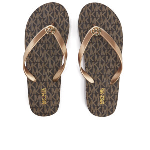 MICHAEL MICHAEL KORS Women's MK Flip Flops - Brown