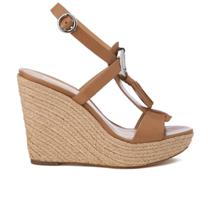 MICHAEL MICHAEL KORS Women's Darien Wedged Sandals - Cashew