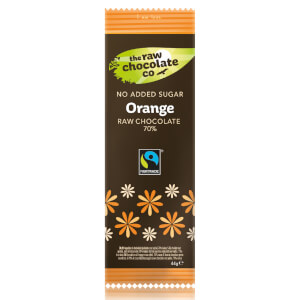 The Raw Chocolate Company Sugar Free Orange with Xylitol Bar - 44g (Pack of 12)