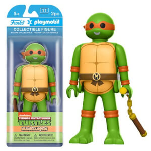 Figurine Funko x Playmobil : Les Tortues Ninja - Michelangelo