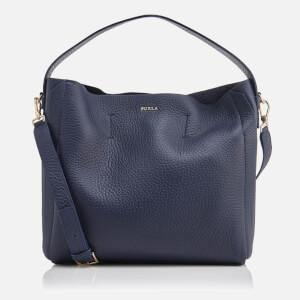 Furla Women's Capriccio Medium Hobo Bag - Navy