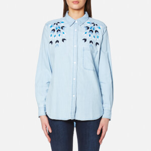 Rails Women's Brett Denim Shirt - Starburst Embroidery