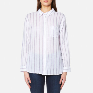 Rails Women's Charli Stripe Shirt - White/Ryal/Magenta