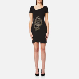 Versace Jeans Women's V Neck Dress - Black