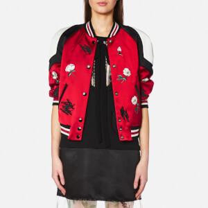 Coach Women's Shrunken Varsity Jacket - Cardinal