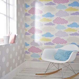 Superfresco Easy Kids' Dotty Spot Print Grey/White Wallpaper