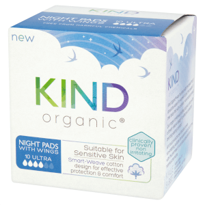 KIND Organic Night Pads with Wings 10