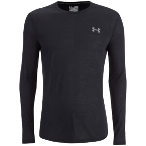 Under Armour Men's Threadborne Fitted Long Sleeve Top - Black/Graphite