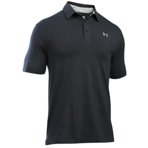Under Armour Men's Charged Cotton Scramble Golf Polo Shirt - Black