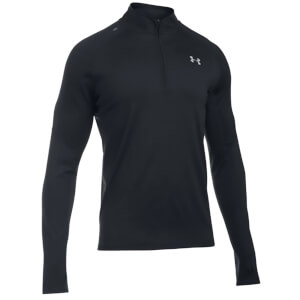 Under Armour Men's Threadborne Run Long Sleeve Running Top - Black