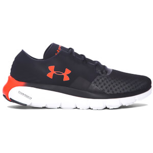 Under Armour Men's SpeedForm Fortis 2.1 Running Shoes - Black/Phoenix Fire